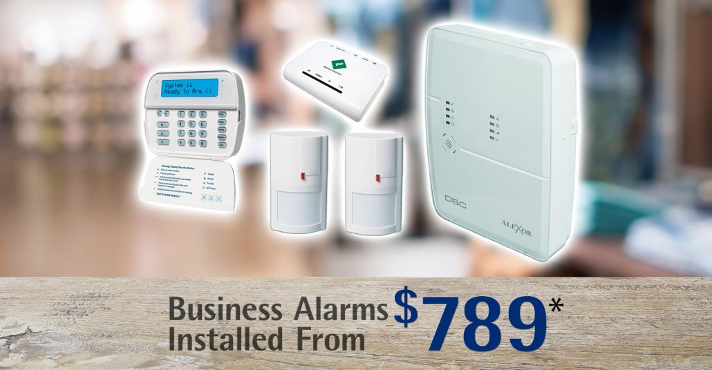 Business Security alarm packages Wollongong