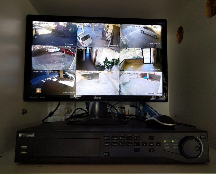 9 camera security monitoring