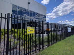 security sign perimeter fence Rotoplas Unanderra Illawarra