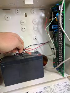 Remove Alarm Panel Backup Battery LeadsBa
