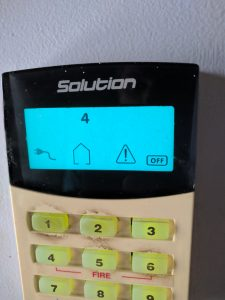 Bosch EDM Solution Codepad Keypad 844 862 880 fault icon home alarm keeps beeping
